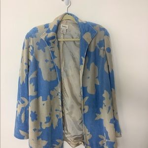 Neiman Marcus Terry Cloth Open Front Jacket